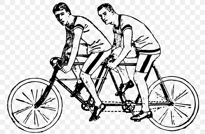 Tandem Bicycle Clip Art Couples Clip Art, PNG, 800x538px.