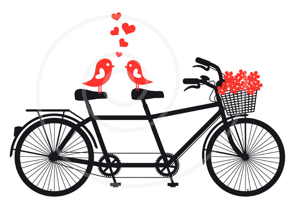 Tandem Bike Clipart.