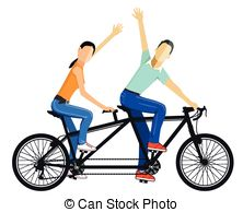Tandem Illustrations and Stock Art. 825 Tandem illustration and.