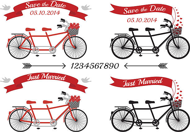 Flying Tandem Bike Clip Art, Vector Images & Illustrations.