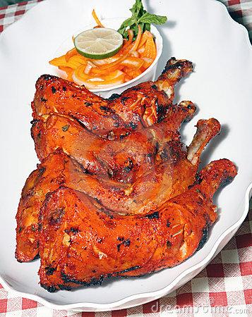 Tandoori Chicken Legs Royalty Free Stock Images.