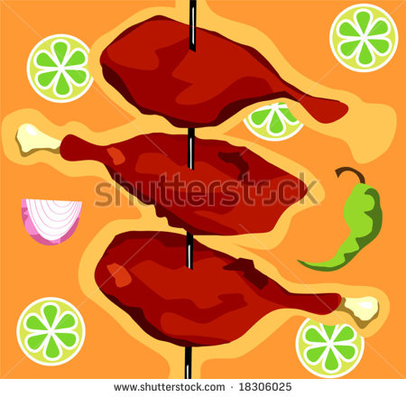 Tandoori Chicken Clipart.