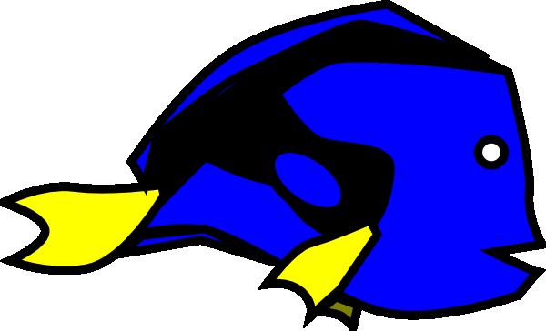 Blue Tang Clip Art at Clker.com.