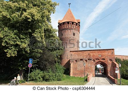 Stock Photo of Prison Tower Castle Tangermuende.