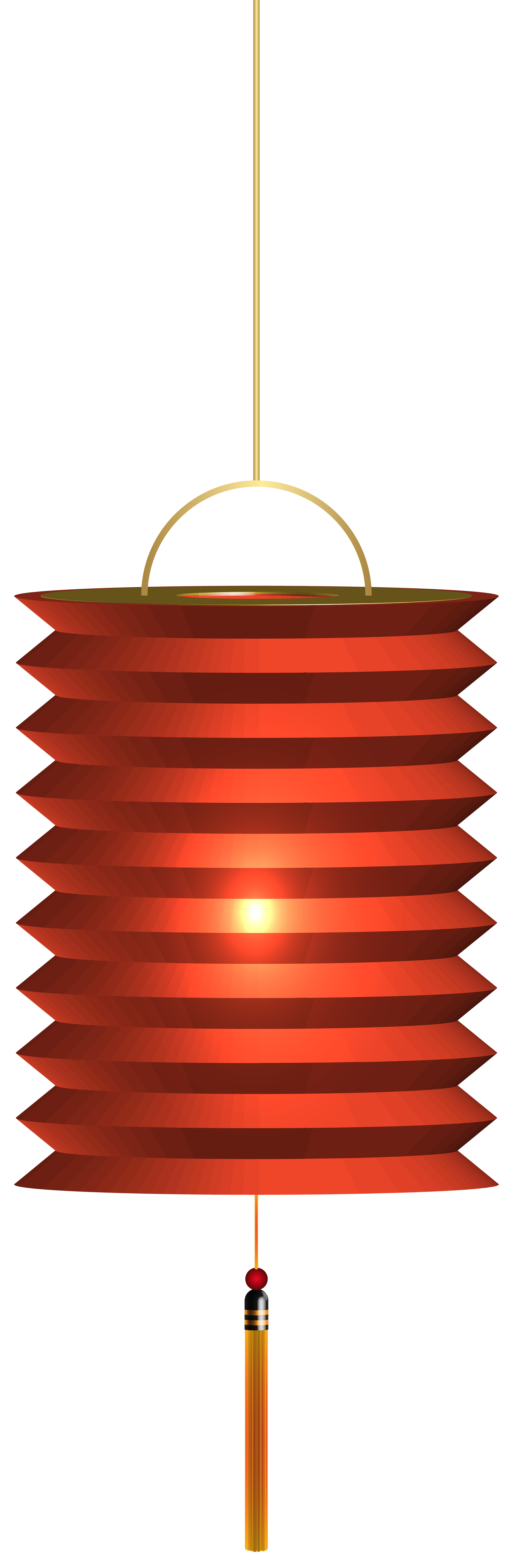 Chinese Red Paper Lantern PNG Clip Art.
