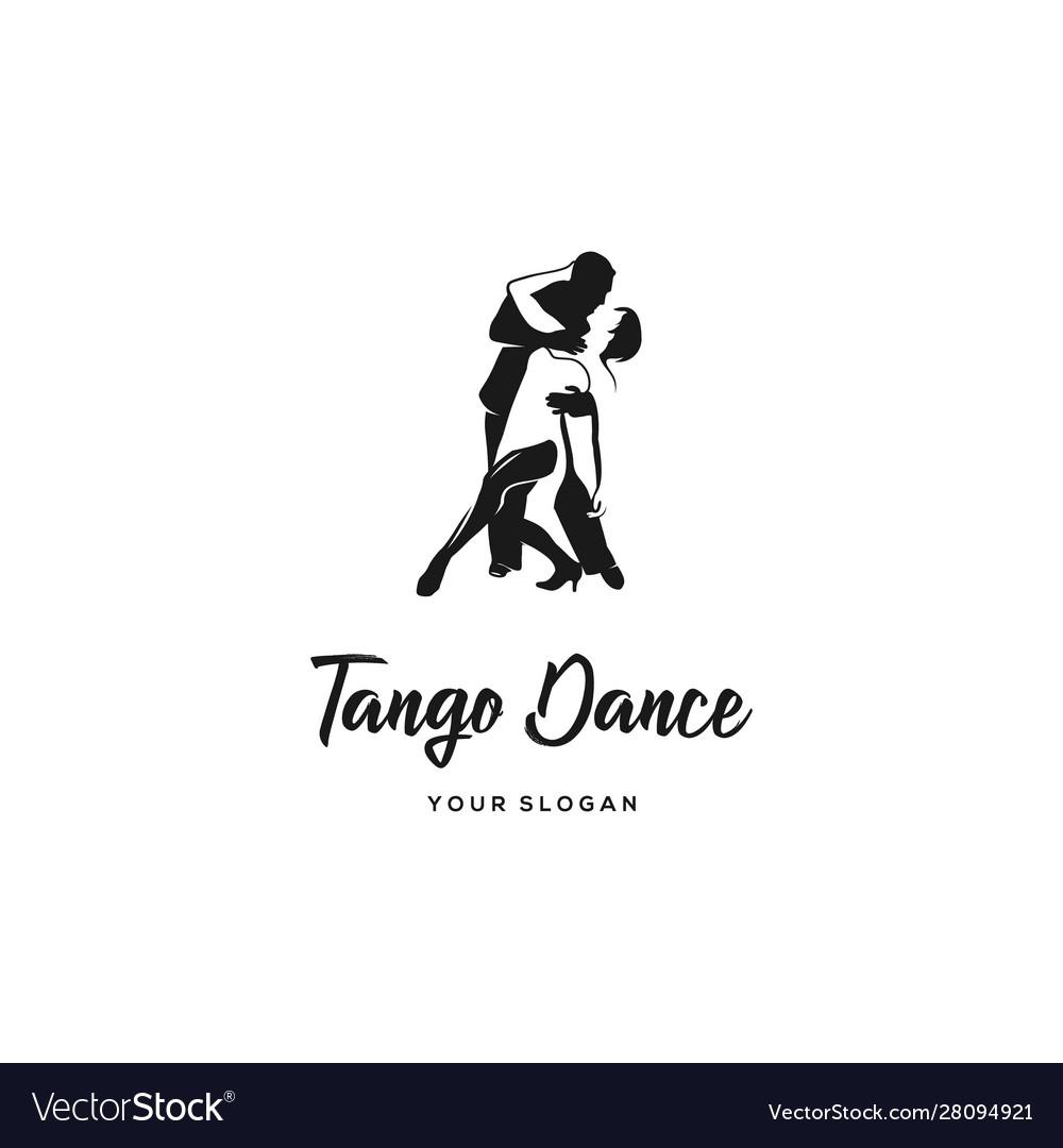 Tango dance logo.