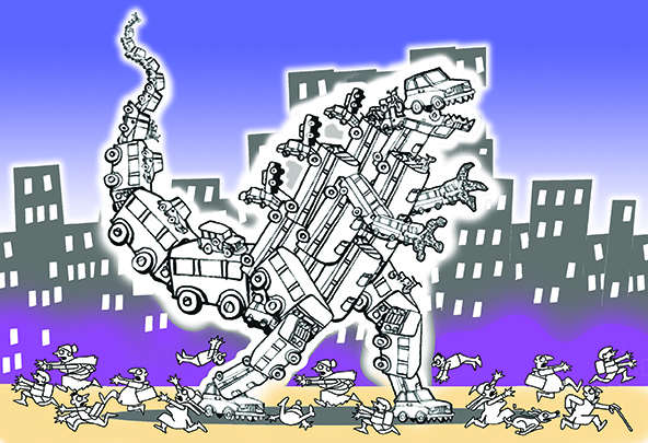Last Tango for the pedestrian? To have smart cities, first.