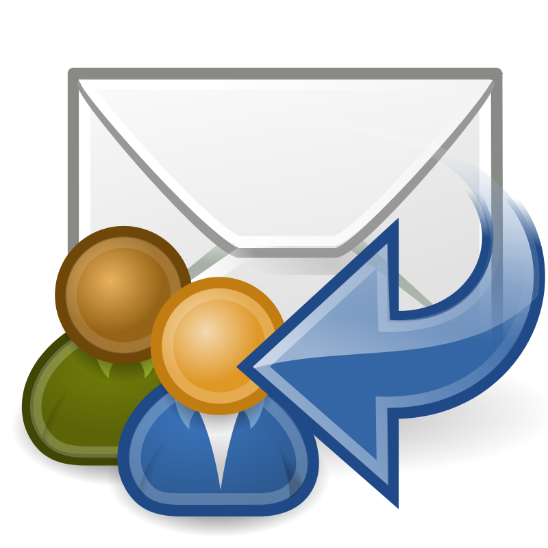 Free Clipart: Tango mail reply all.