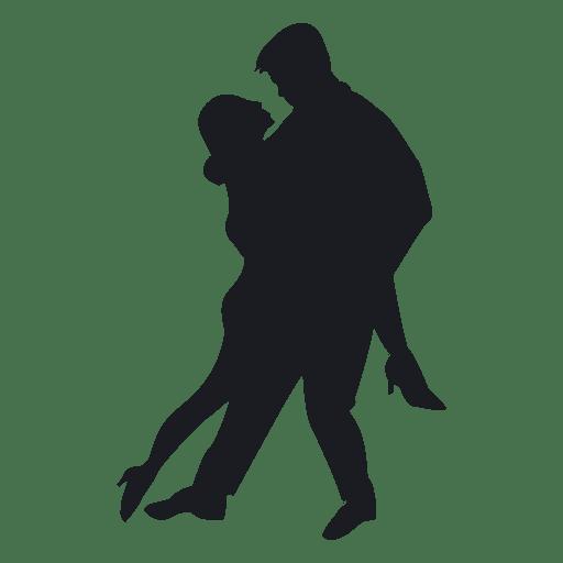 Tango couple dancing.