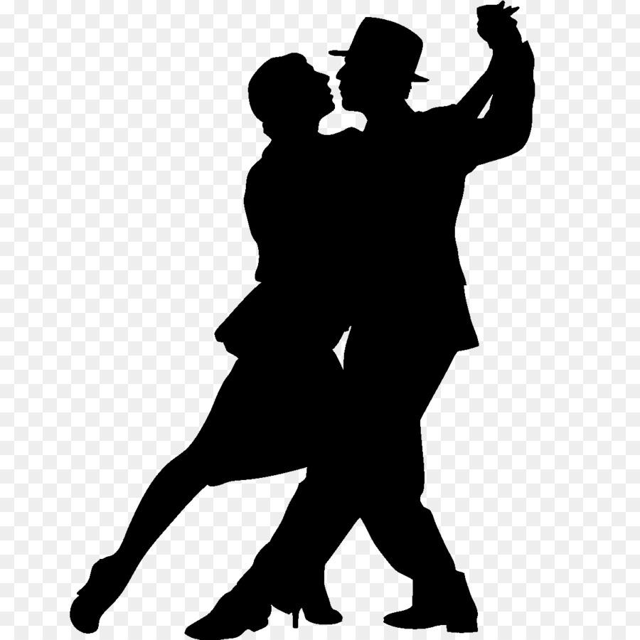 Ballroom Dance Tango Silhouette.