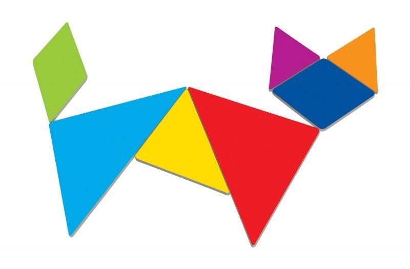 tangram blocks.