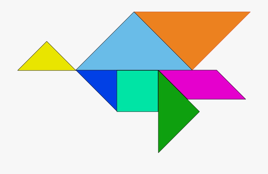 Shapes Puzzle Chinese Tangram Game Pieces Seven.