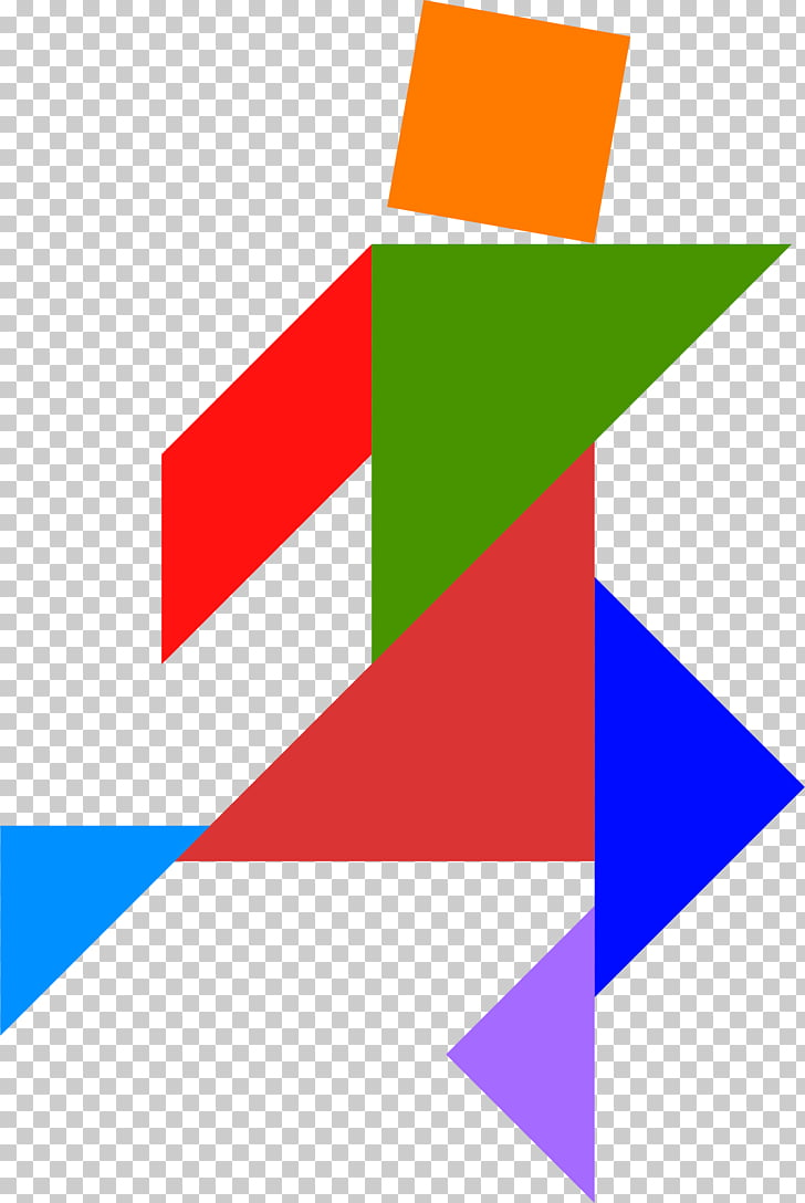 Tangram Puzzle Word game , triangular pieces PNG clipart.