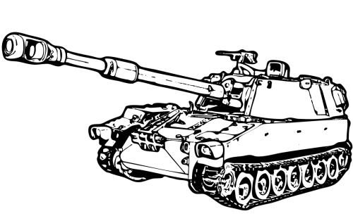 Tank Clipart Black And White.