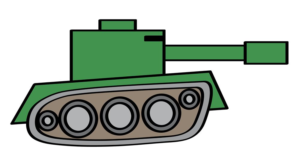 Drawing military tank.