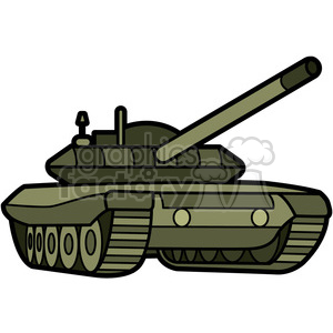 military armored tank clipart. Royalty.