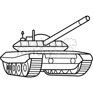 military armored tank outline clipart. Royalty.