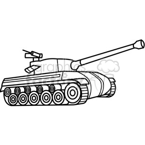 tank outline clipart. Royalty.