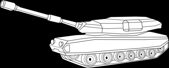 Tank clipart line art.