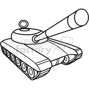 battle tank outline clipart. Royalty.