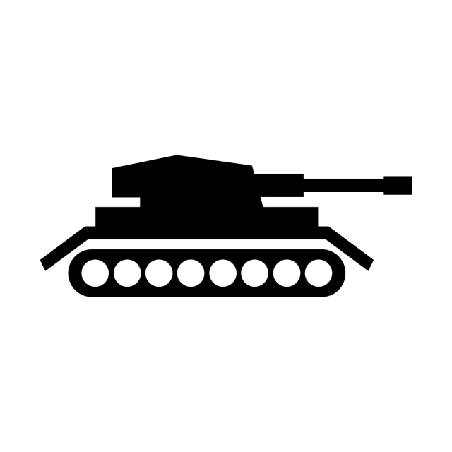 Tank Icon, Transport, Transportation, War PNG and Vector.