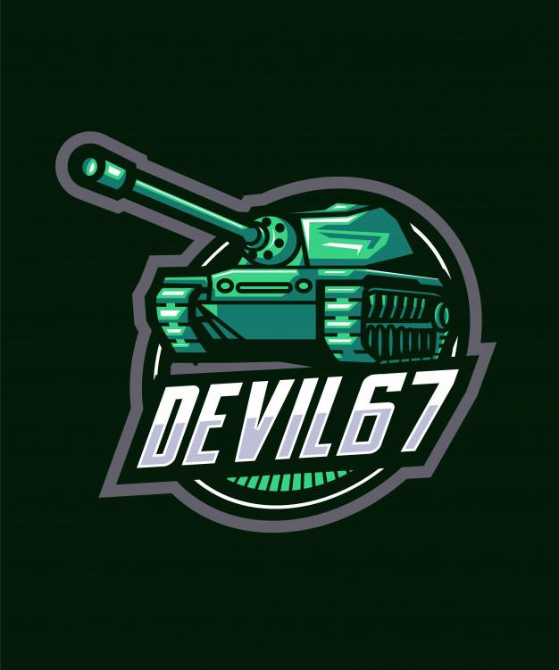 Tank sports logo Vector.