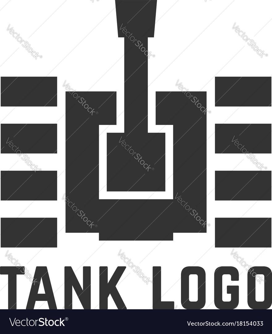 Black simple tank logo.