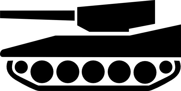 silhoette of tank.