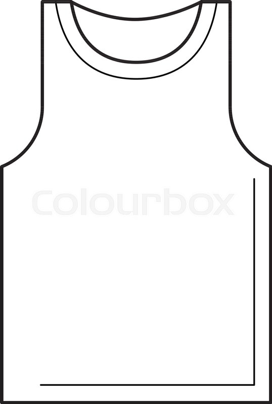 Tank top line icon isolated on white.