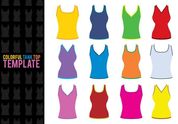 Tank Top Template Vectors.