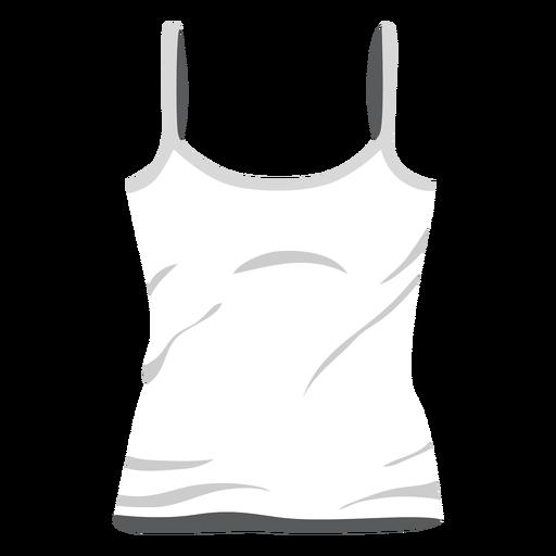 White ladies tank top icon.