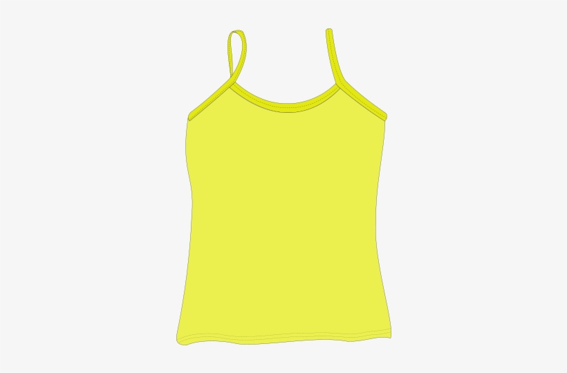 Tank Spagetti String Yellow Clothes Shirt Ladies.