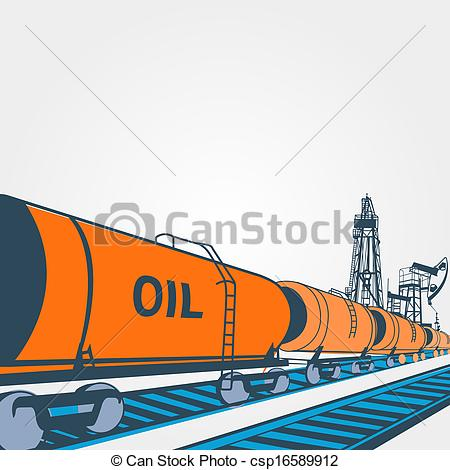 Clipart of Railroad tank wagon on a white background. illustration.