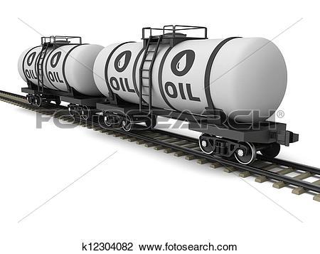 Clip Art of Railroad tank wagon k12304082.