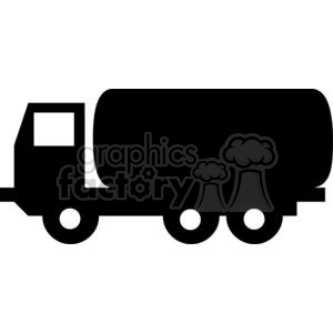 Black and white tanker truck clipart. Royalty.