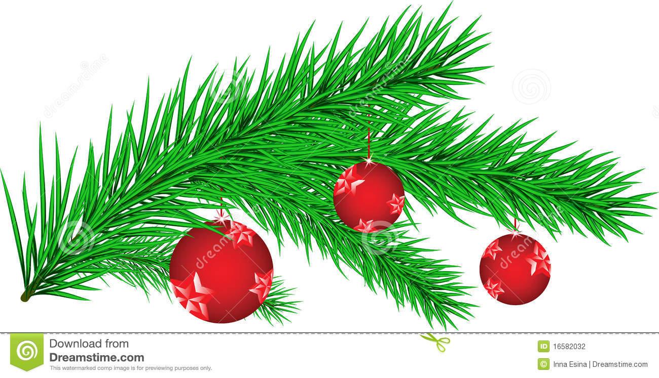 Der Zweig Eines Weihnachtsbaums Stock Illustrationen, Vektors.