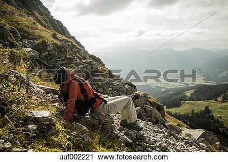 Stock Photography of Austria, Tyrol, Tannheimer Tal, young female.