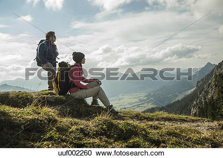 Stock Photography of Austria, Tyrol, Tannheimer Tal, young couple.