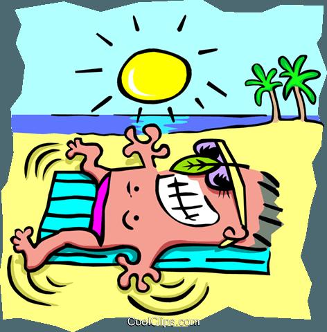 Sun tanning.