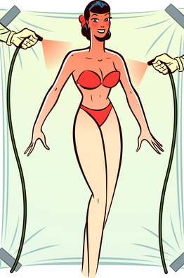 Spray tanning clipart.
