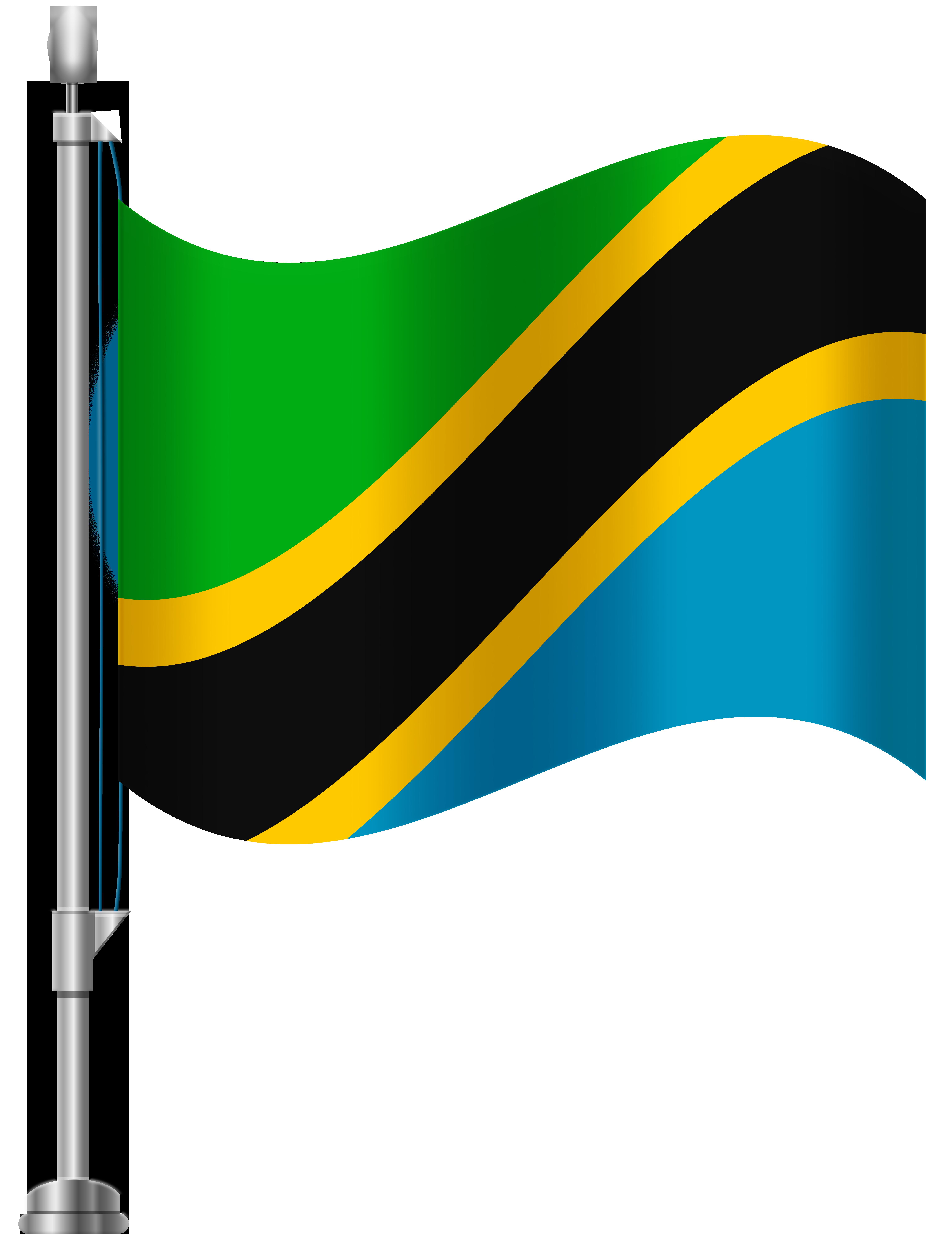 Tanzania Flag PNG Clip Art.