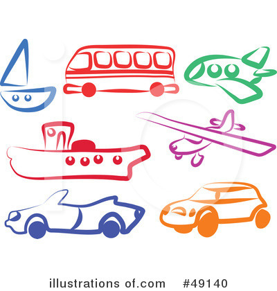 Transportation Vehicles Clipart.