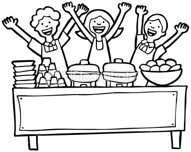 Food Buffet Clipart.