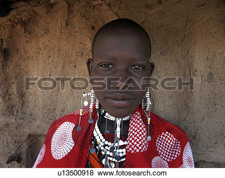 Pictures of moita, girl, masai, tanzania, person, people u13500918.