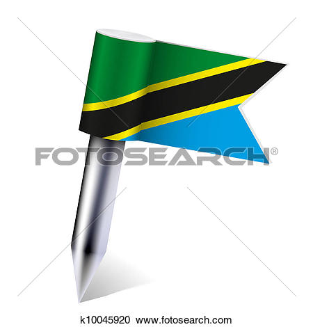 Clipart of Vector United Republic of Tanzania flag isolated on.