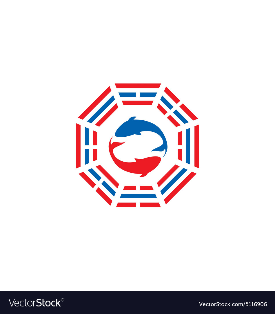Fish tao yin yang logo.