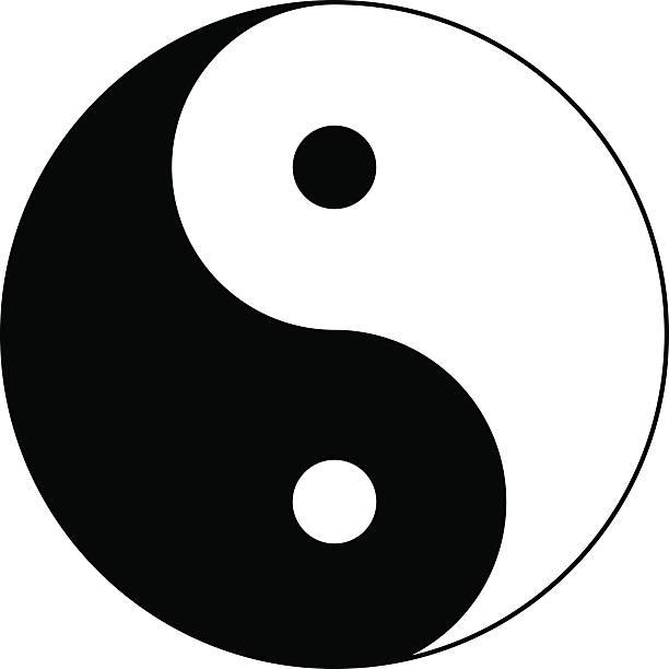 Karma Yin Yang Symbol Balance Taoism Clip Art, Vector Images.