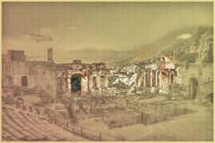 Taormina Stock Illustrations.