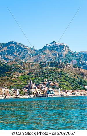 Picture of view on Taormina.