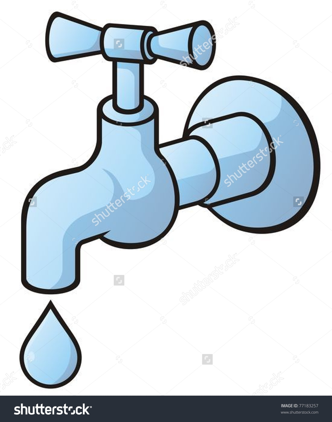 Dripping tap clipart.